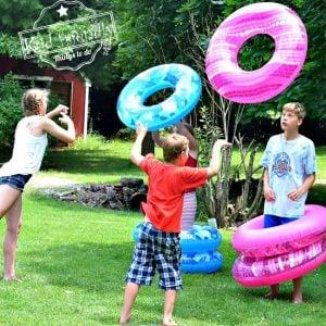 human ring toss summer game