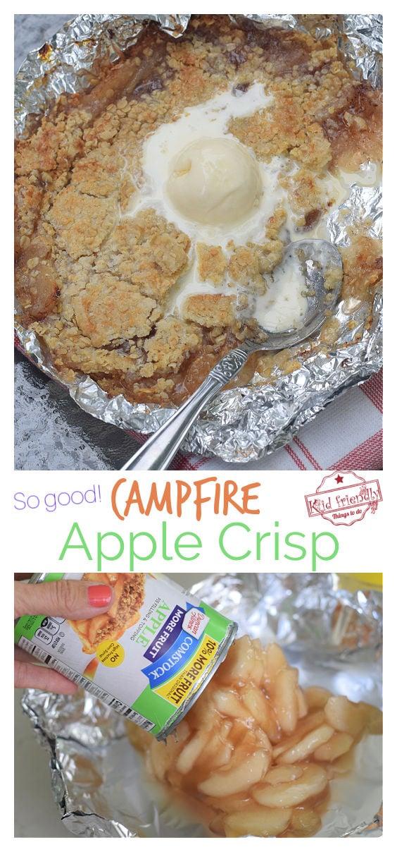 apple crisp on the grill