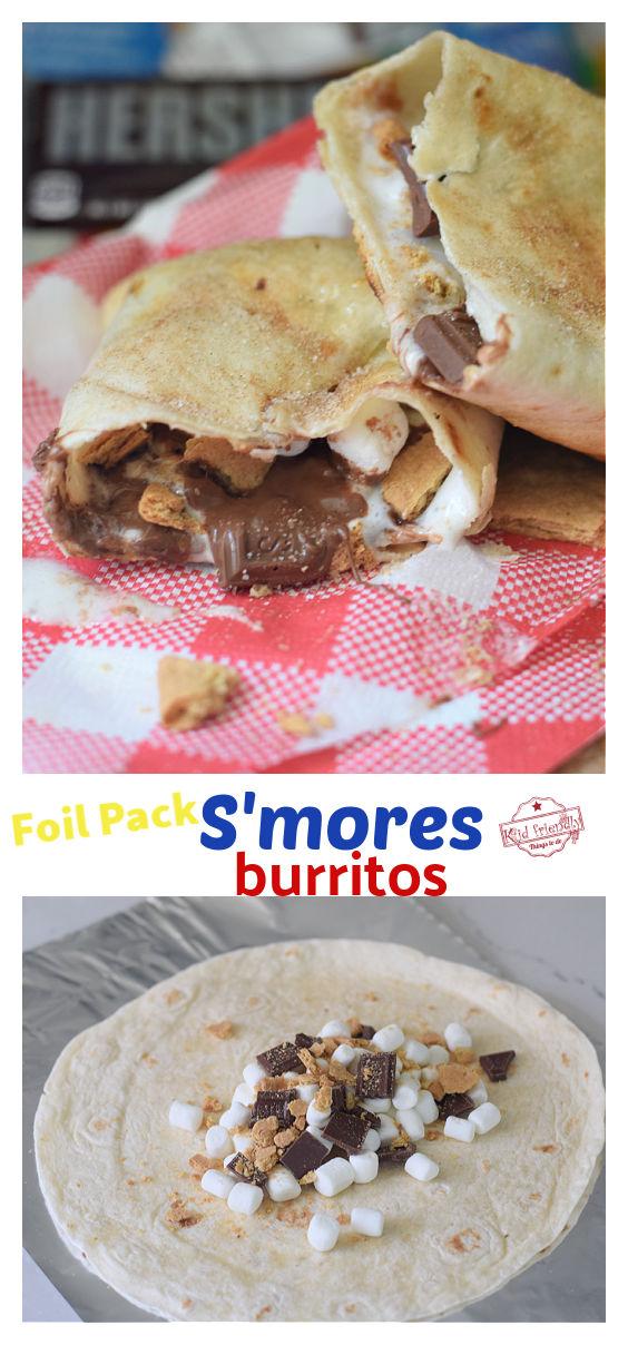 Foil pack S'mores burritos