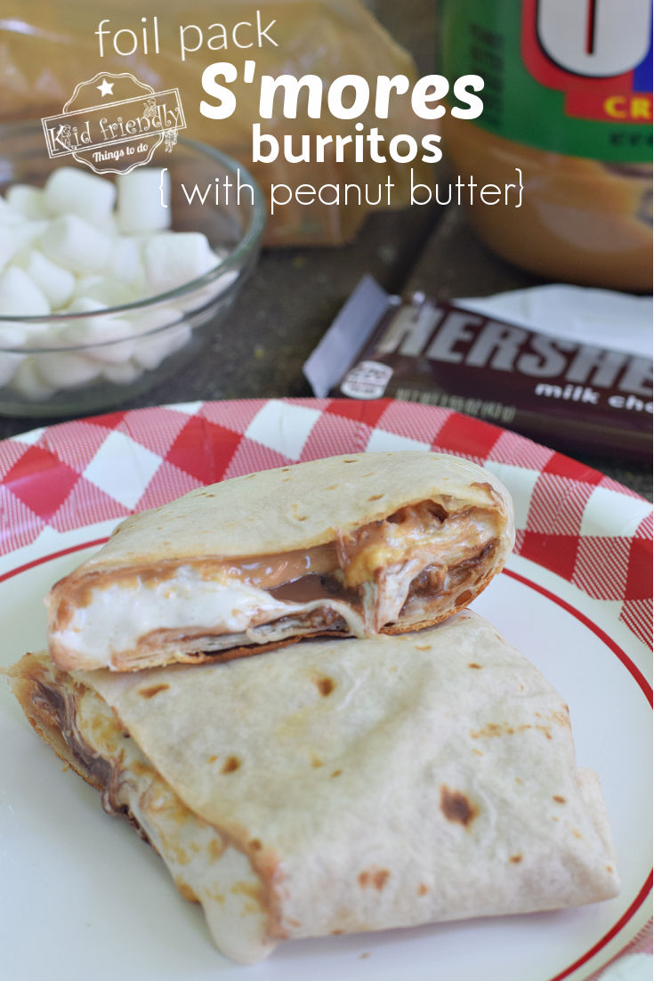 peanut butter S'mores burrito