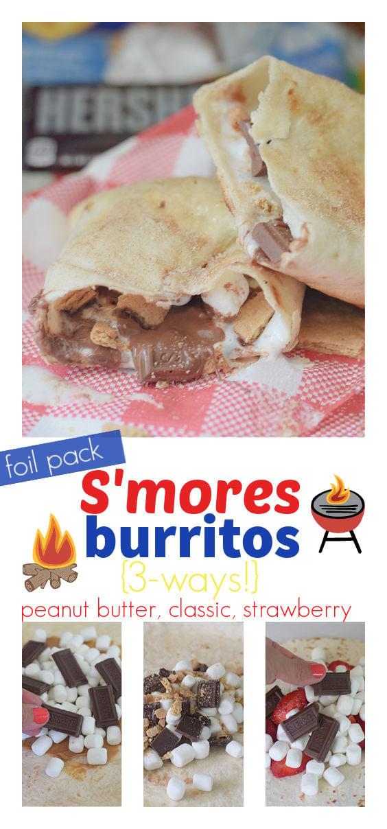 Grilled S'mores Burrito recipe