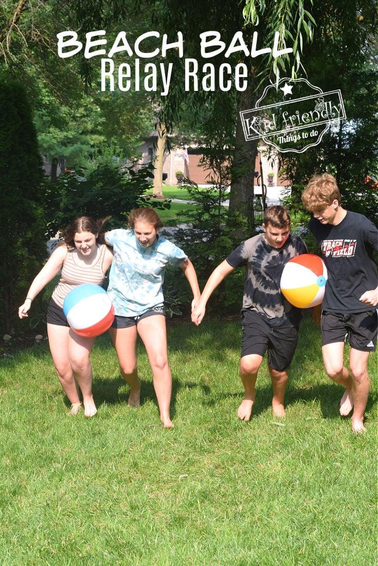 beach ball summer game for kids