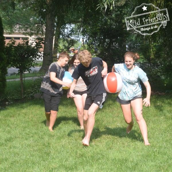 Beach Ball Relay Race {Fun Outdoor Game!} | Kid Friendly Things To Do