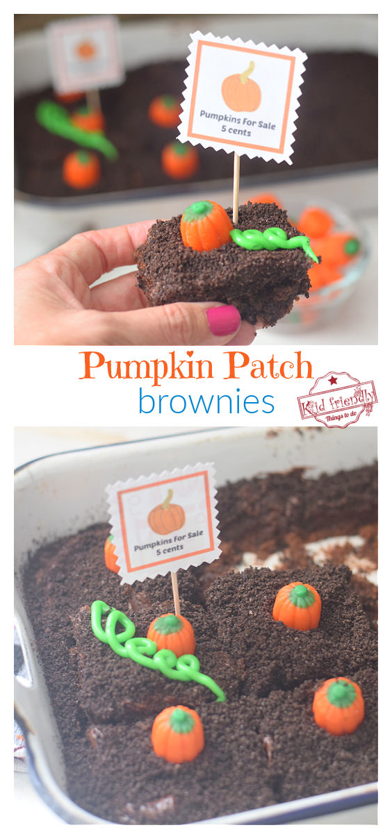 pumpkin patch brownies recipe for fall treats