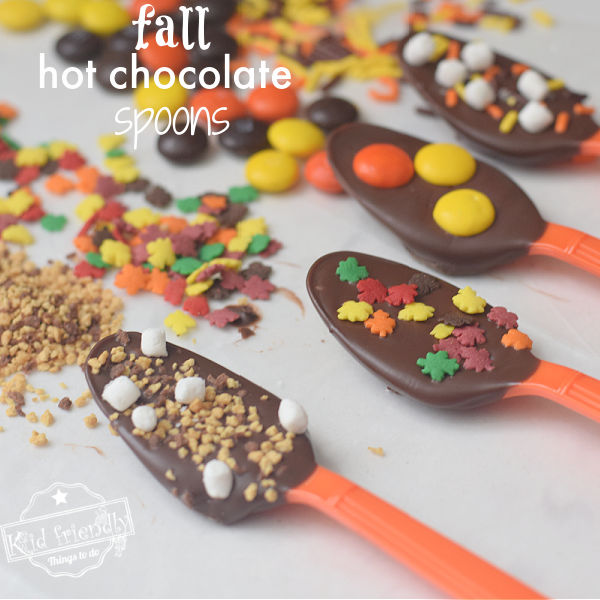 Fall Hot Chocolate Spoons | Kid Friendly Things To Do