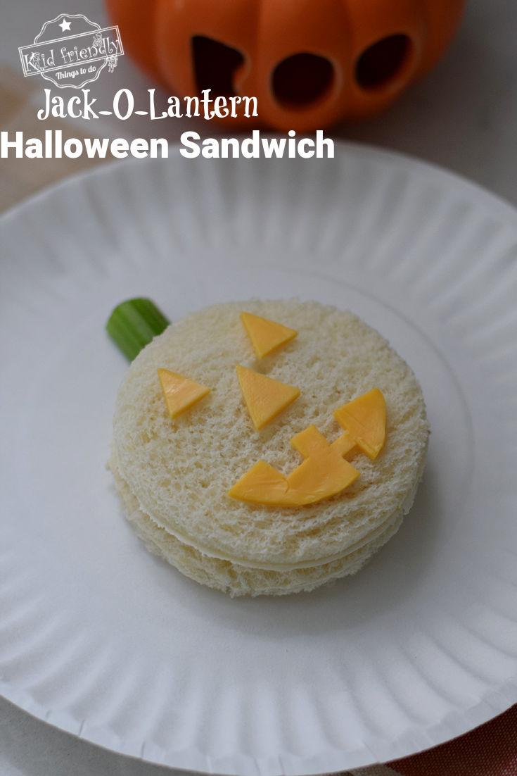 Halloween sandwich for kids
