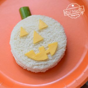 Halloween Jack-O-Lantern Sandwich