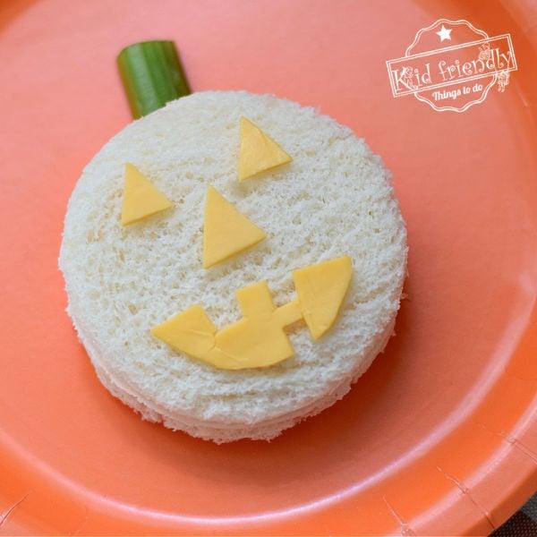 Jack-O-Lantern Halloween Sandwich Idea | Kid Friendly Things To Do
