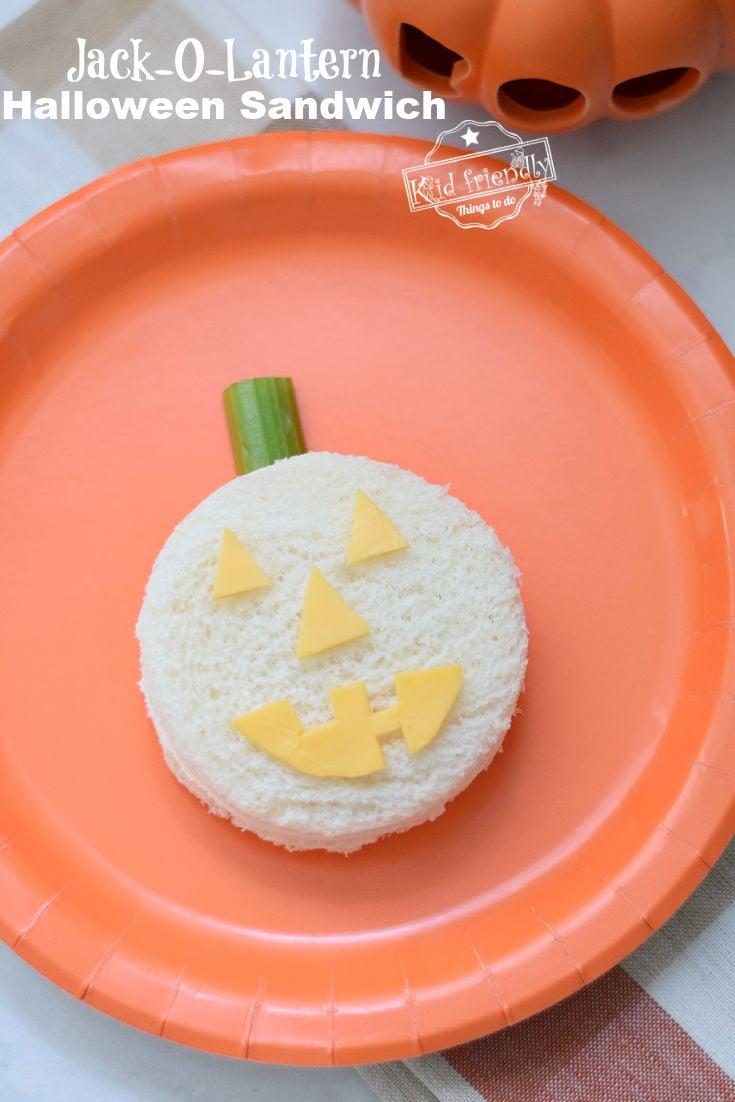 Halloween Sandwich Idea for kids
