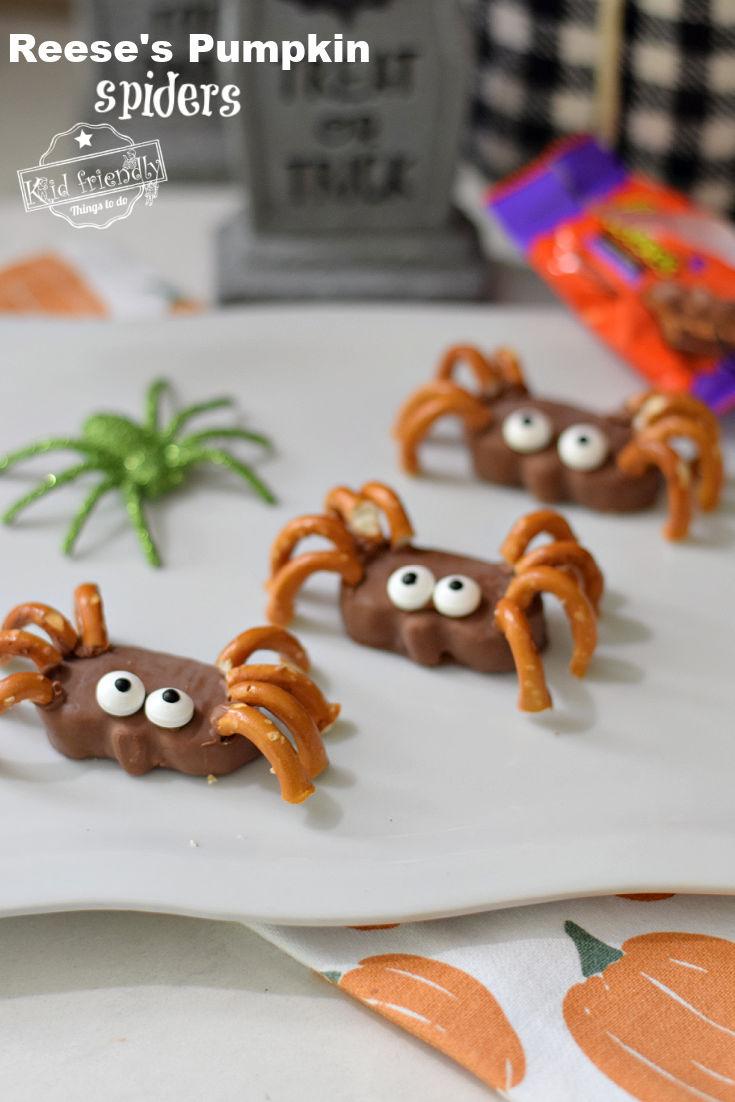 Reese's Pumpkin spider treats for Halloween