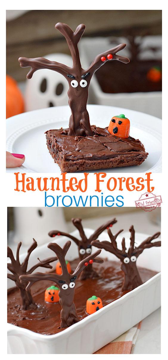 Haunted Forest Halloween brownies