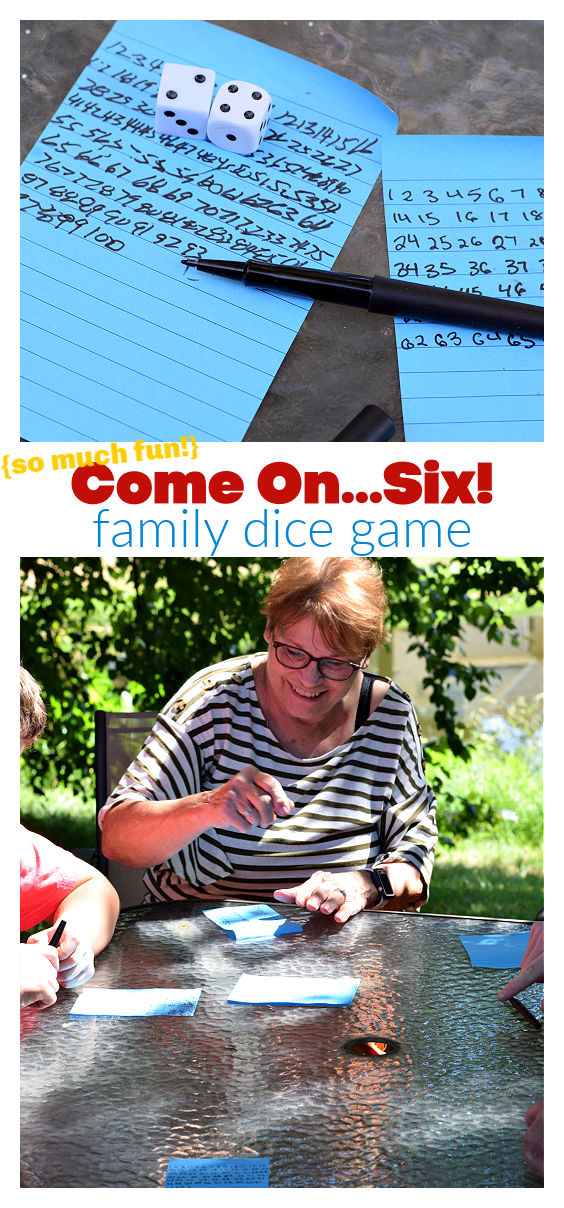 come on six - family dice game